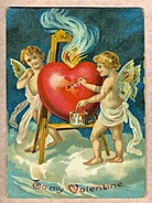 Antique Valentines Day card
