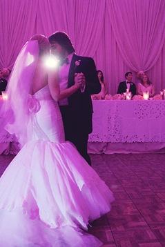Couture wedding gown trumpet silk bridal gown toronto