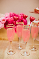 Cupids pink champagne cocktail