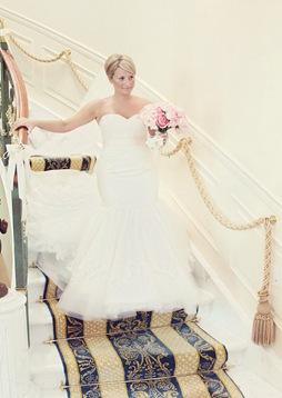 Designer trumpet wedding gown