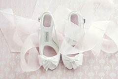 Organza Sash and wedding shoes