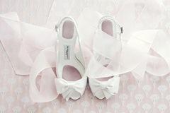 Organza Sash and wedding shoes