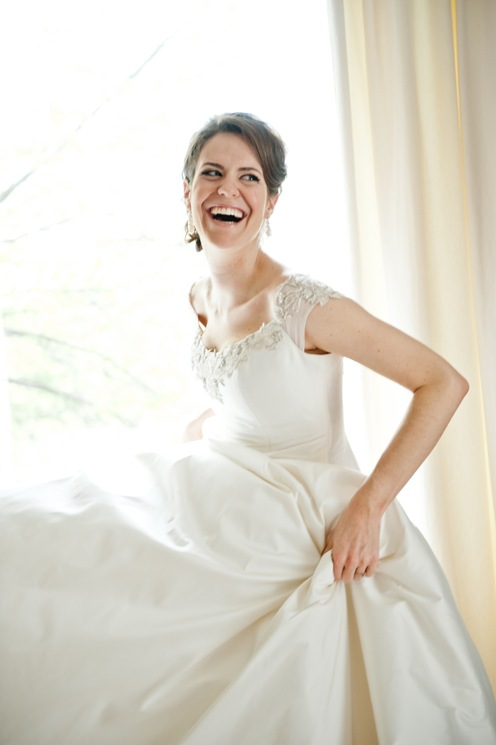 Silk custom wedding dress valencienne bridal