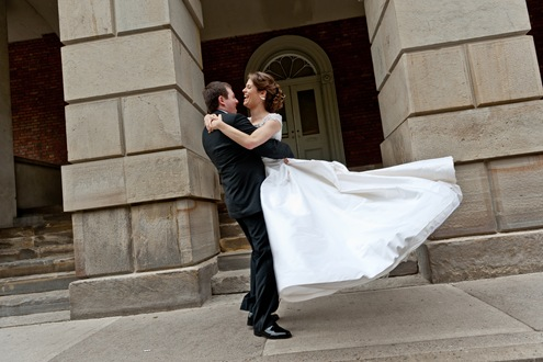 Silk custom wedding gown princess style