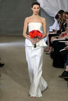 Carolina Herrera Peplum Dress ,TorontoValencienne,Bridal Store