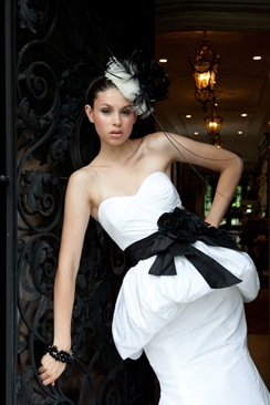 Peplum wedding gown toronto bridal store valencienne,custom ,couture