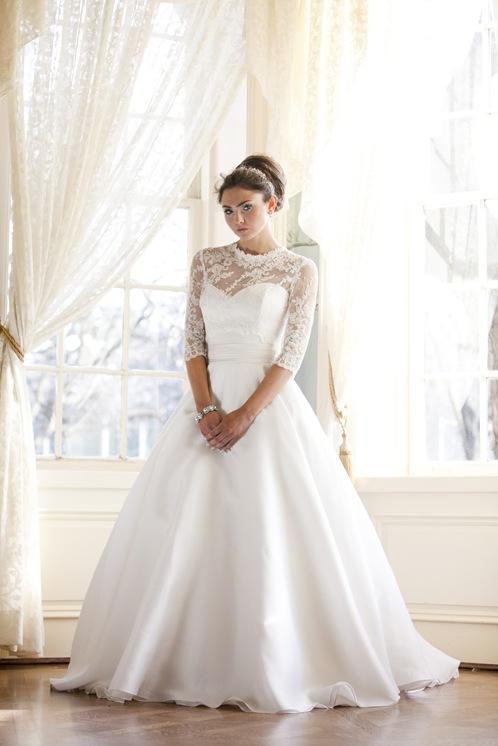 Tornto wedding gown bridal silk aline ballroom skirt Lace full skirt