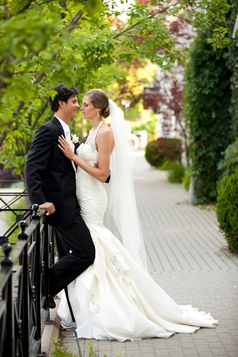 Toronto,silk wedding gown ,trumpet,custom valencienne,inn on the twenty,sarah pavan,draped drop waist