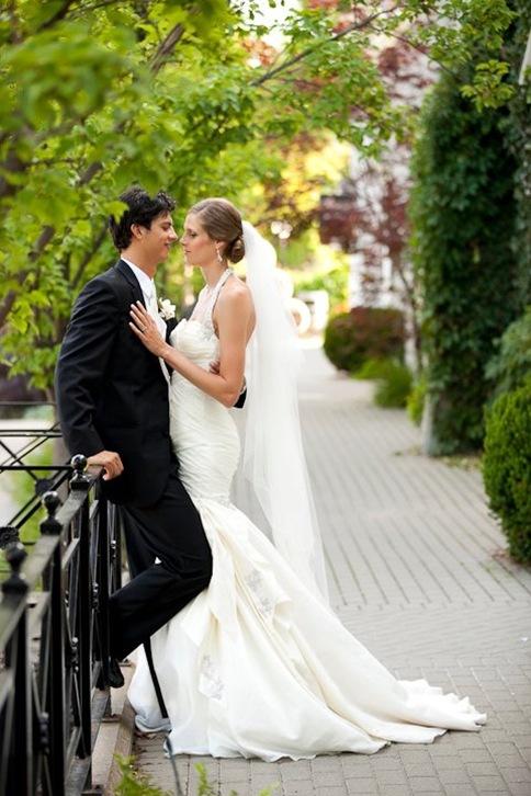 Toronto,silk wedding gown ,trumpet,custom valencienne,inn on the twenty,sarah pavan,draped drop waist