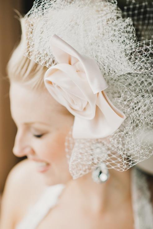 Valencienne bridal custom design french veil fascinator couture rose headpiece