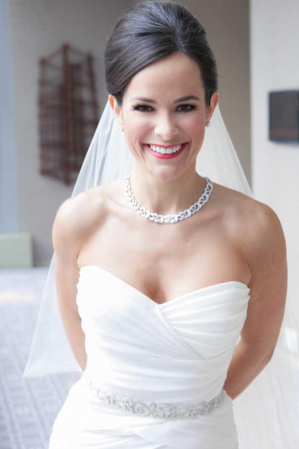 Valencienne Bridal Custom Design Toronto Sweetheart Neckline Belt Jewelry Rouching Mermaid Gown
