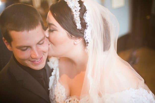 Valencienne, Custom Bridal Design, Plus Size Bride, Ruffles, Ball Gown, Veil, Ceremony, Head Piece