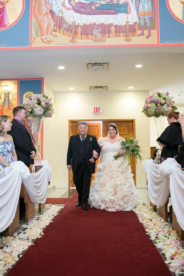 Valencienne, Custom Bridal Design, Plus Size Bride, Ruffles, Ball Gown, Veil, Ceremony