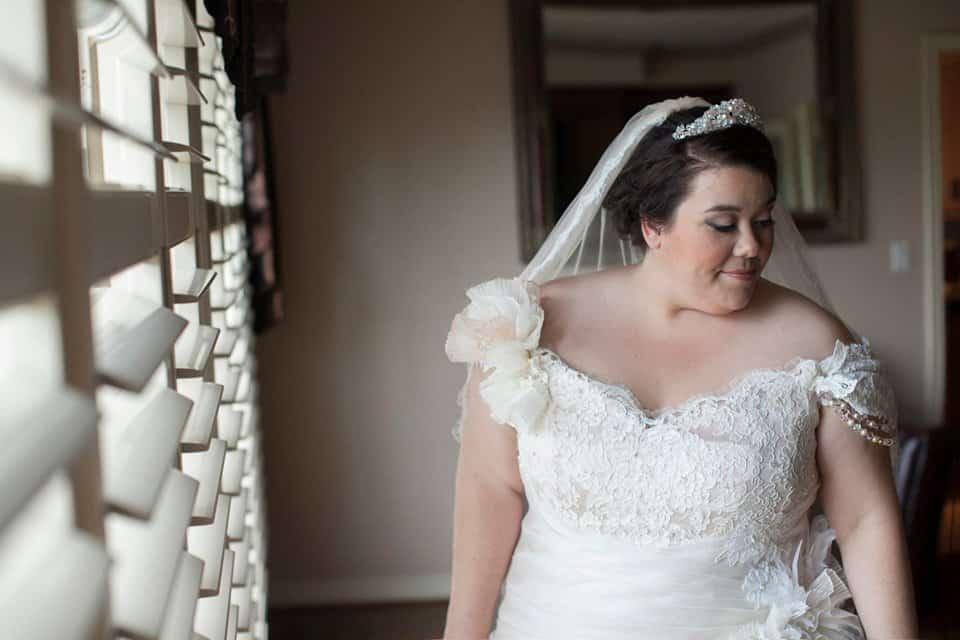 Valencienne, Custom Bridal Design, Plus Size Bride, Ruffles, Ball Gown, Veil