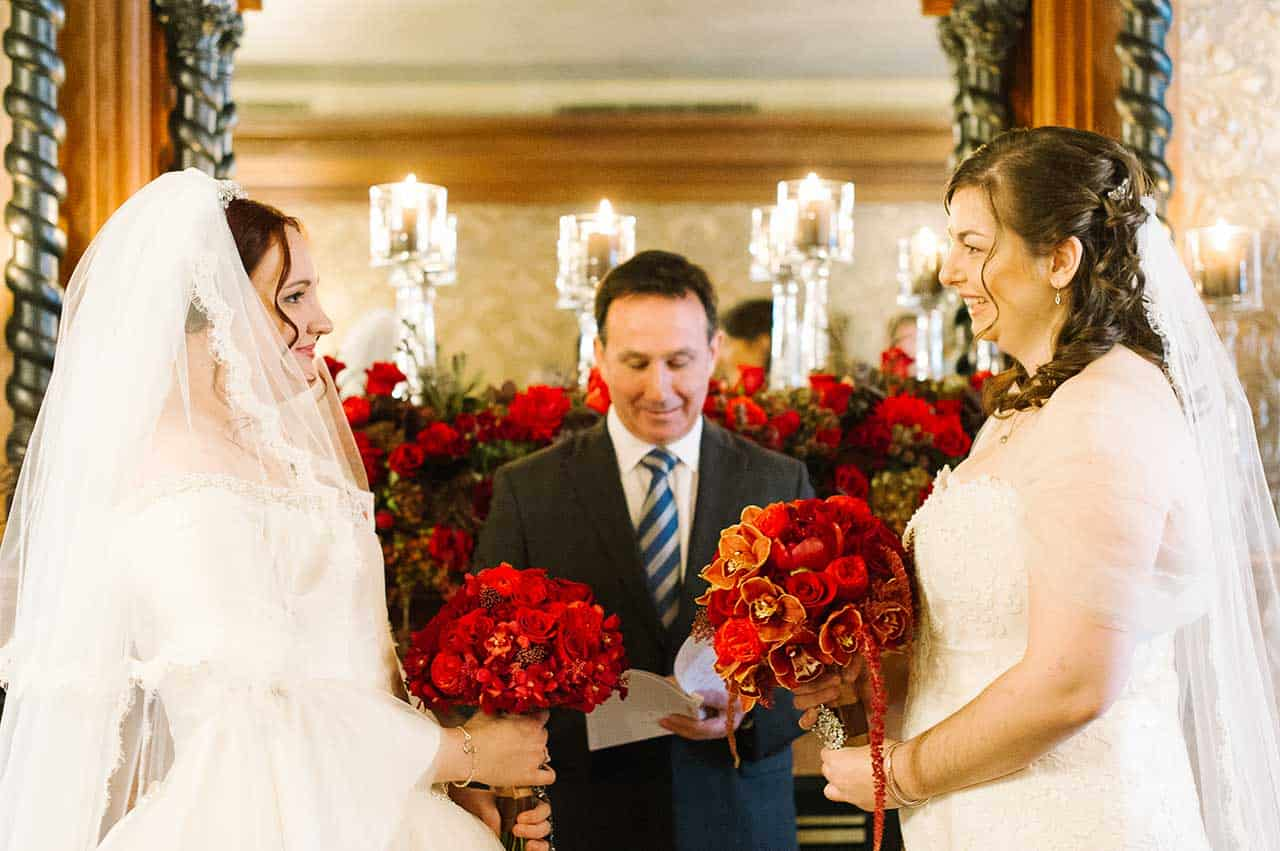 Intimate Wedding Ceremony - Couture Bridal Gowns from Valencienne