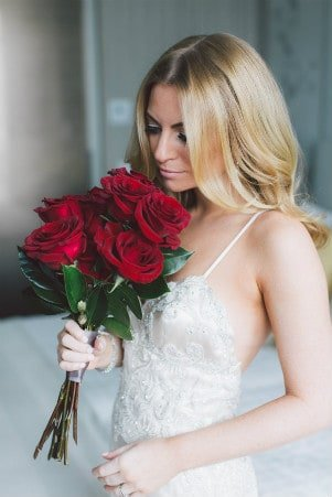 Long Valencienne Bridal Design Toronto Custom Bridal Design Sexy Wedding Gown Fitted Wedding Gown Destination Wedding Gown Red Roses Custom Made Wedding Gown